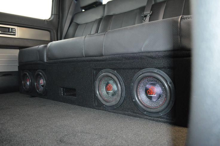 Custom Under The Seat Enclosure In 2014 F 150 Four 6