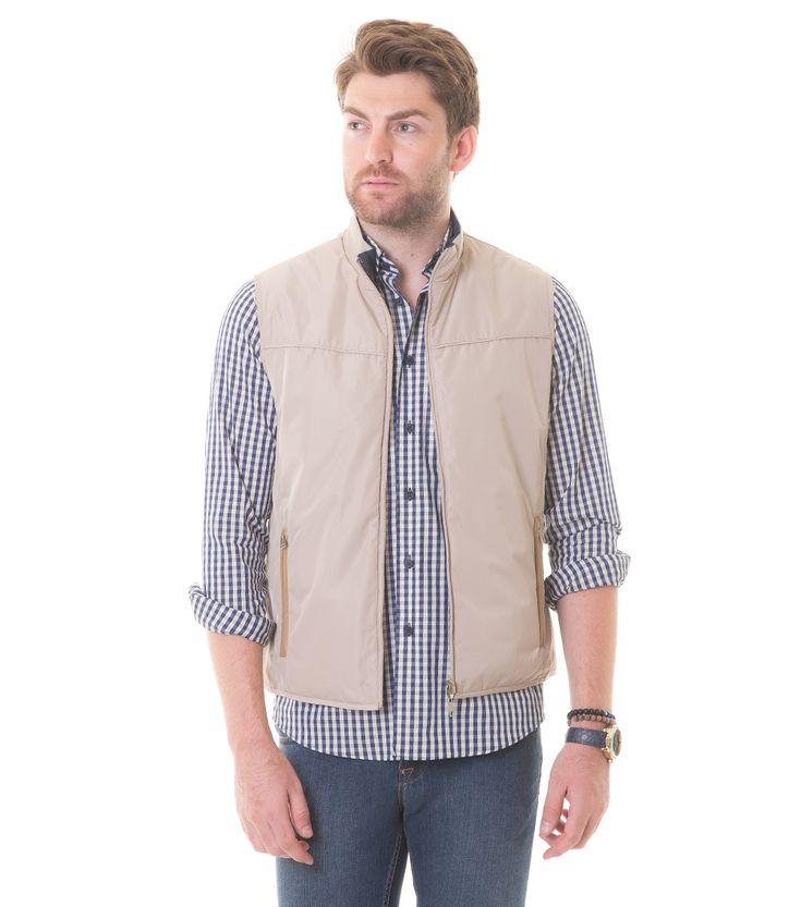 Karaca Erkek Çift Taraflı Yelek - Taş & Lacivert #safari #mensfashion #outerwear #yelek #karaca #ciftgeyikkaraca www.karaca.com.tr