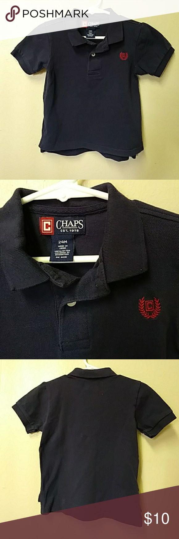 CHAPS Ralph Lauren Toddler boys shirt Chaps Est 1978 Ralph Lauren navy blue polo shirt Chaps Shirts & Tops Polos