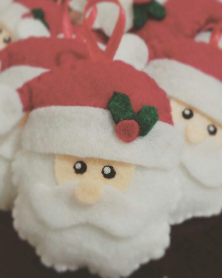 Santa para el arbolito navideño #fieltro #santa