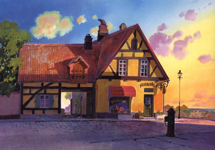 lyriumnug:Kiki's Delivery Service background design.