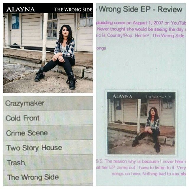 Check out my out review on Alayna's EP http://iheartcelebrities519.blogspot.ca/2015/05/alayna-wrong-side-ep-review.html