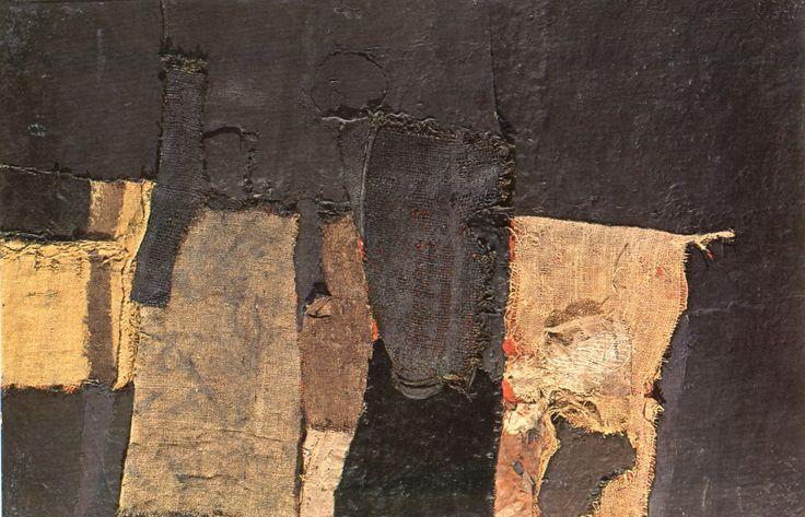 alberto burri - sacco e nero, 1955
