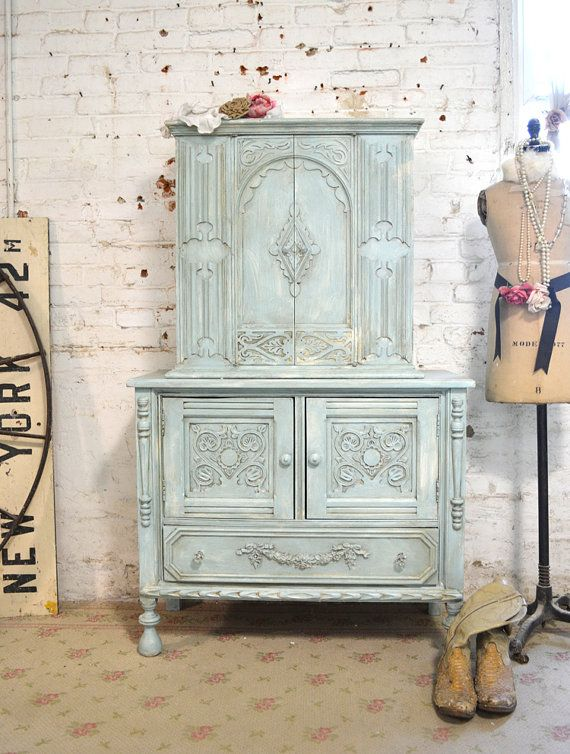 Painted Cottage Chic Shabby White Vintage By Paintedcottages, $325.00