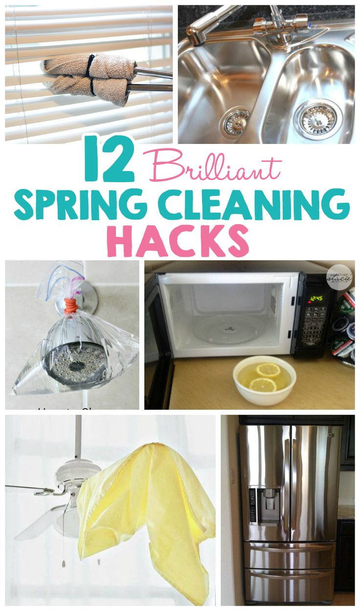 12 brilliant spring cleaning hacks spring household and for Household hacks