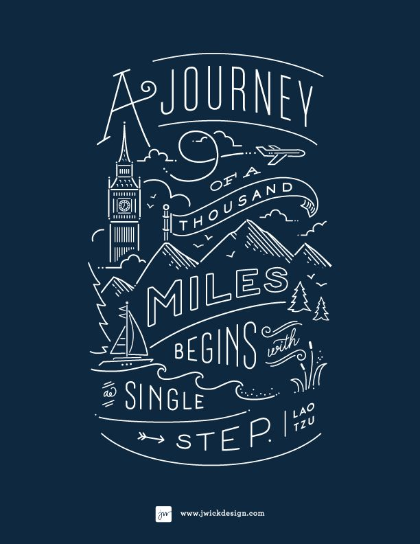Love this! - A journey of a thousand miles begins with a single step. #quoteoftheday
