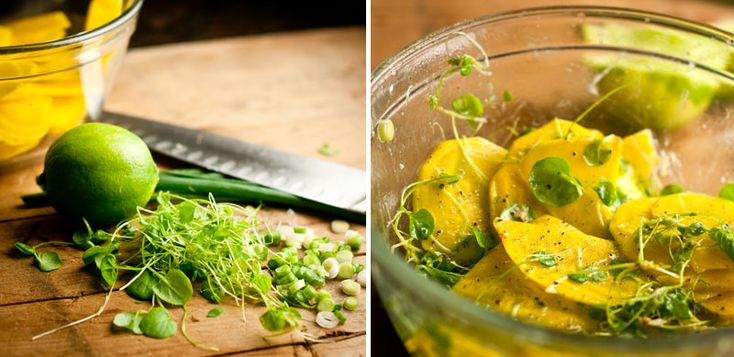 Golden Beet with Cress Salad | A Raw Life | Pinterest | Beets and ...