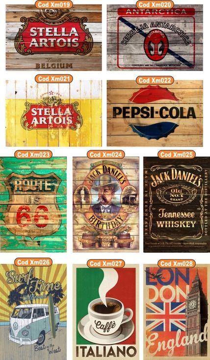 Poster Quadro Jack Daniels Cerveja Antarctica Retro Vintage - R$ 45,00