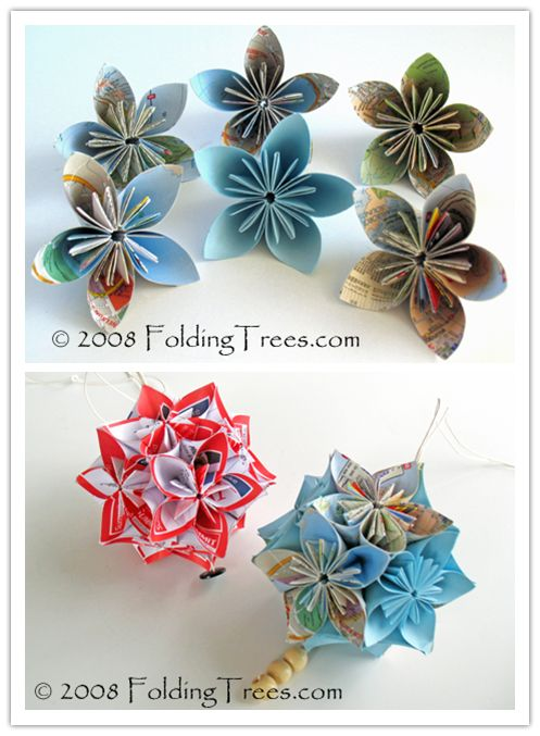 Video - How to Fold Beautiful Kusudama Paper Flower Balls