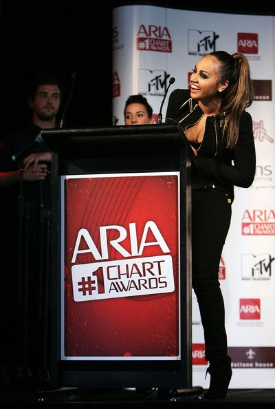 Jessica Mauboy Photos Photos - Jessica Mauboy receives a 2009 ARIA Chart Award at Doltone House on May 13, 2009 in Sydney, Australia.  (Photo by Lisa Maree Williams/Getty Images) * Local Caption * Jessica Mauboy - ARIA Chart Awards 2009