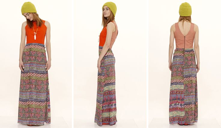 Dori Tomcsanyi jacquard print long dress with contrast top detail.  Available from September at the webshop. http://doritomcsanyi.com/