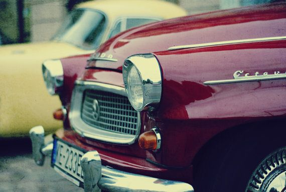 Vintage car photography old car photography lomo style by MagicSky, Kč129.00