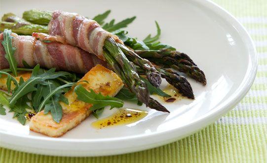 Bacon. Haloumi. Asparagus.