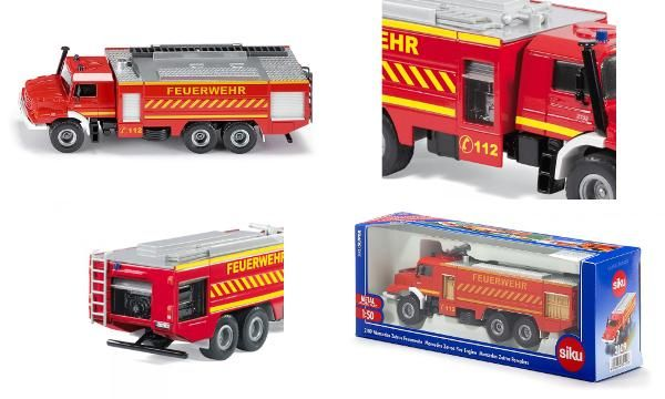 Jual beli MERCEDES BENZ ZETROS 2733 FEUERWEHR Diecast SIKU di Lapak Rijal Bakule - rijal6683. Menjual Diecast - MERCEDES BENZ ZETROS 2733 FEUERWEHR #Diecast SIKU  The very latest fire engine to 1:50 scale! With the recently introduced chassis of the Mercedes-Benz Zetros, SIKU creates an attractive miniature version of the high capacity fire vehicle based on the #Rosenbauer model.   The driver's cab is exactly reproduced with original details. For the very first time, side and rear roller ...