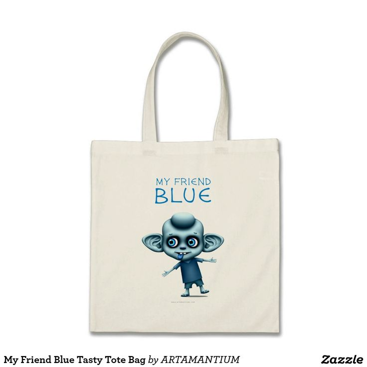 My Friend Blue Tasty Tote Bag