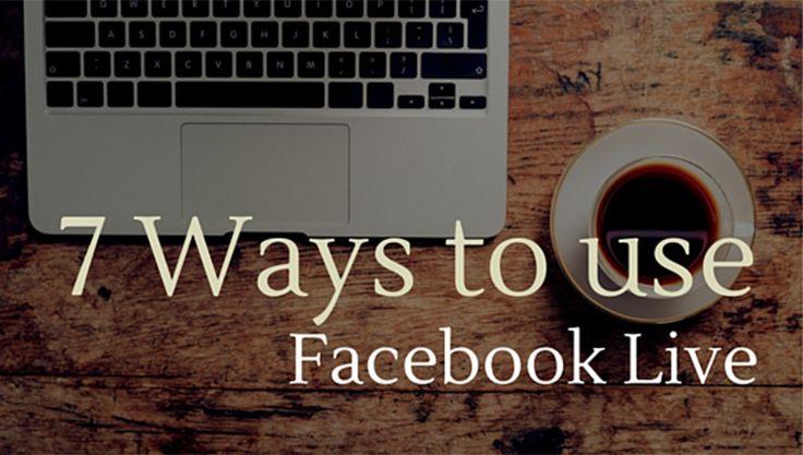 7 Ways to Use Facebook Live this Week via @ChurchMag