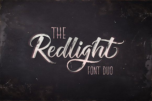 The Redlight Font Duo (UPDATE) by Rabbittype on @creativemarket