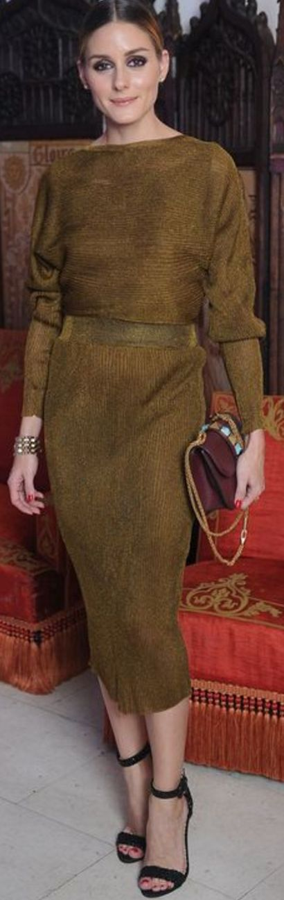 Sweater, skirt, and purse – Valentino Shoes – Gianvito Rossi