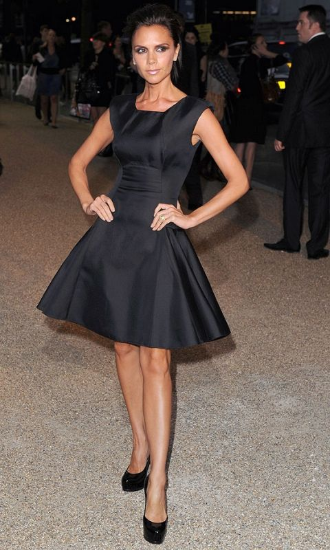 Victoria Beckham Wears One Of Her Own Design Dresses To Her Label's Store Opening In Moscow, March 2010
