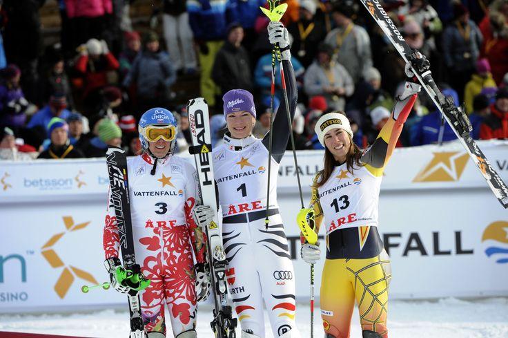 Maria Hoefl-Riesch Veronika Zuzulova Photos: Audi FIS World Cup - Women's Slalom