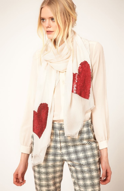 Moschino Cheap & Chic Heart Scarf