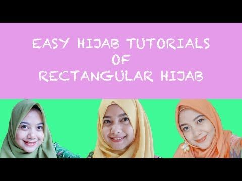 Easy Hijab Tutorials Of Rectangular Hijab For Everyday Hijab - YouTube