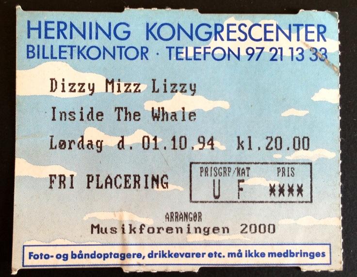 Billet fra koncert i 1994