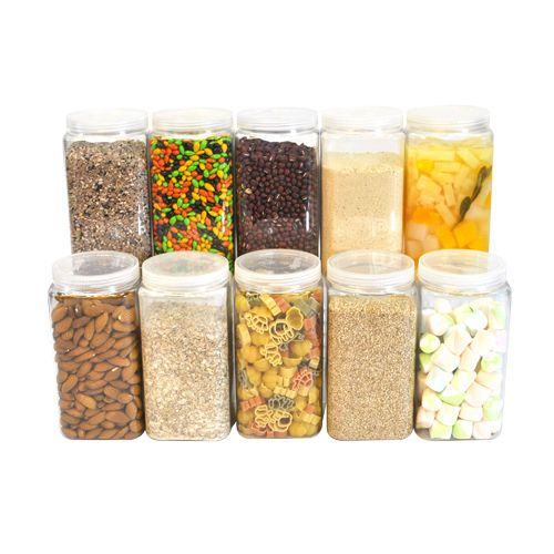 [ Silicook ] A set of 10 Fridge Food Storage containers- Large Square Set