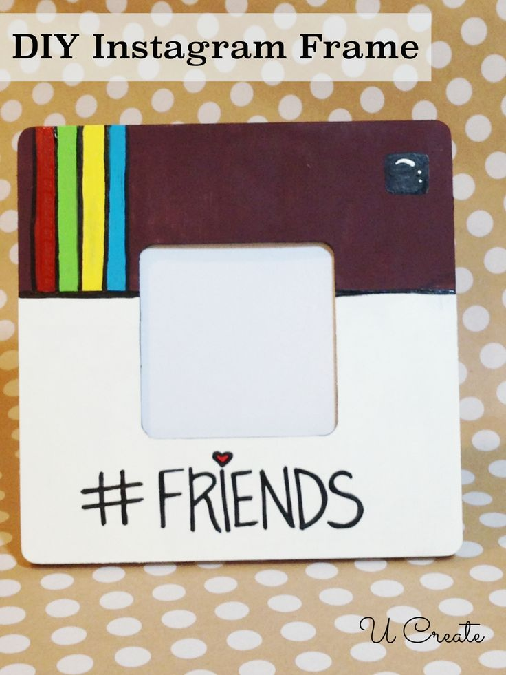 DIY Instagram Frame - great gift for teens, too! cute coaster idea (just put glass over it)