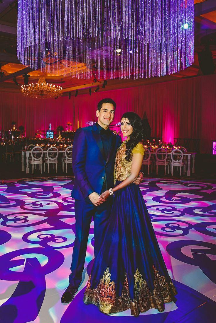 Avni & Abhishek | Indian Wedding Reception Outfit | Think Shaadi                                                                                                                                                                                 More