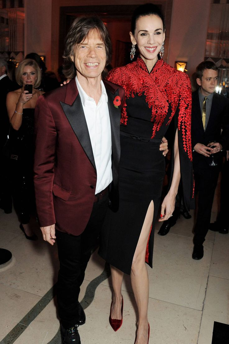 Mick Jagger and L'Wren Scott at Bazaar UK's Women of the Year Awards