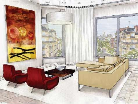 interior rendering <3 , two point perspective.