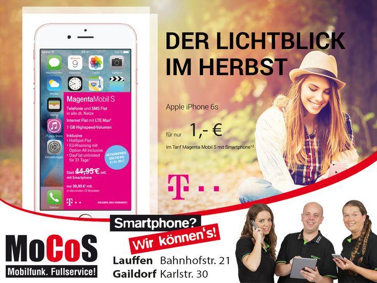 jetzt das iPhone 6S mit Telekom Tarif ab einem Euro!