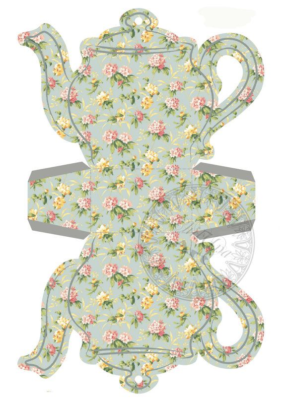Instant Download Printable Tea Bag Holder Box Tiny by ChikUna, $3.00                                                                                                                                                     Mais