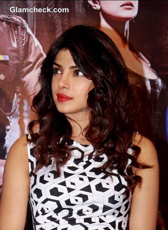 Priyanka Chopra Curly Hairstyle 2013 - Loose Spiral curls