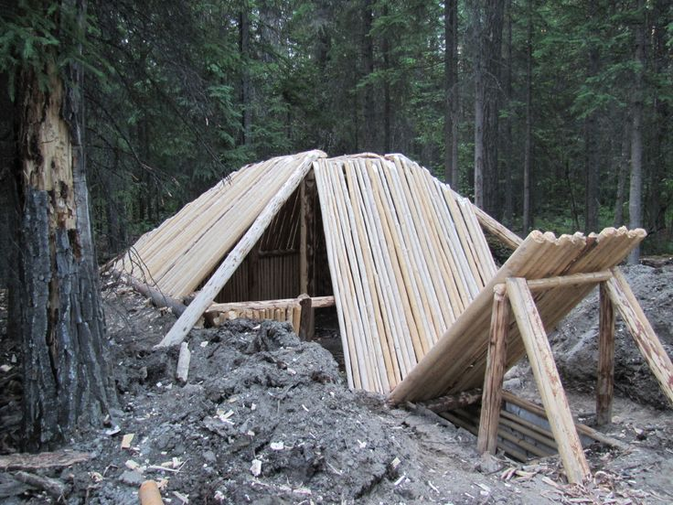 semi- subterranian earth lodge in Camp & Shelter Forum
