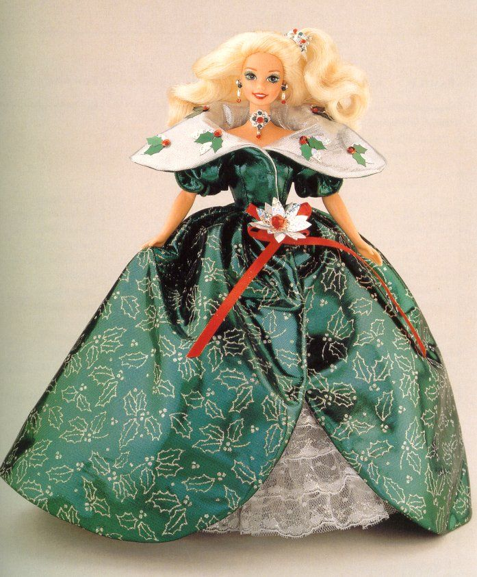 Image detail for -1988 Holiday Barbie - red dress (no box) (picture)