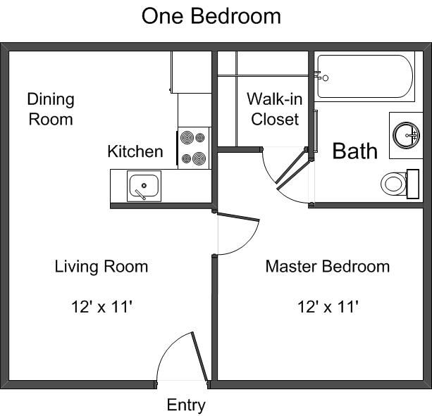 Small Cabin Plans, Cabin Floor & House Plans... Simple... Add loft for 2nd bedroom.