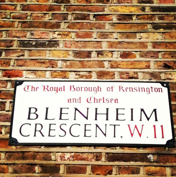On the corner of Blenheim Crescent - Redistributing Fashion Luxury Pop Up Shop - Feb 2013