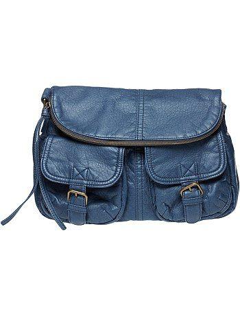 Borsa bisaccia tinta unita Esiste anche in altri colori: marrone, grigio e nero Prezzo: 19€ #kiabi #bag #casual #woman