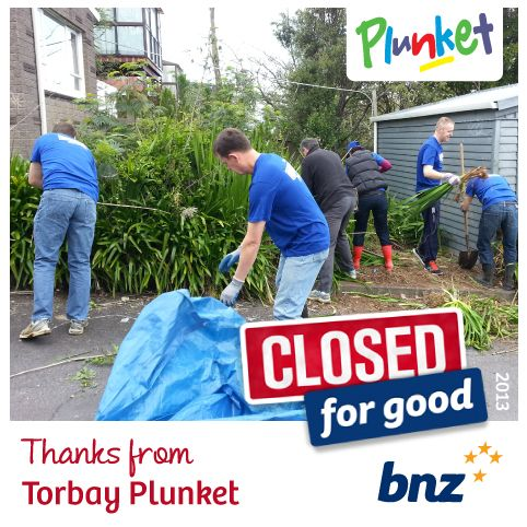 Thanks BNZ, you guys did an awesome job clearing out the site for our new garden project...