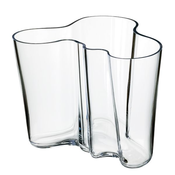 Aalto vase, clear, by Alvar Aalto.