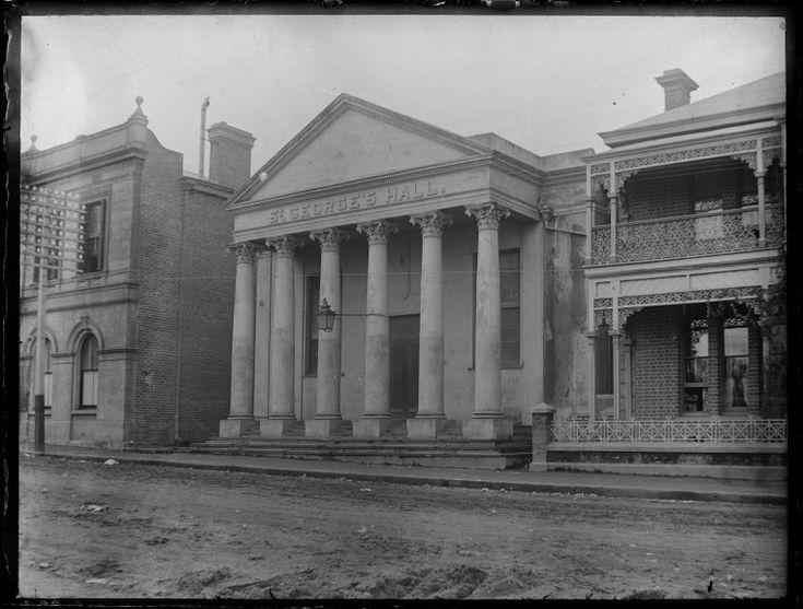 230470PD: St George's Hall, Perth, 508 Hay Street (formerly Howick Street), 1880-1900?  http://purl.slwa.wa.gov.au/slwa_b2465644_1