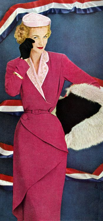 Sunny Harnett in Pierre Balmain 1951 on Twitpic