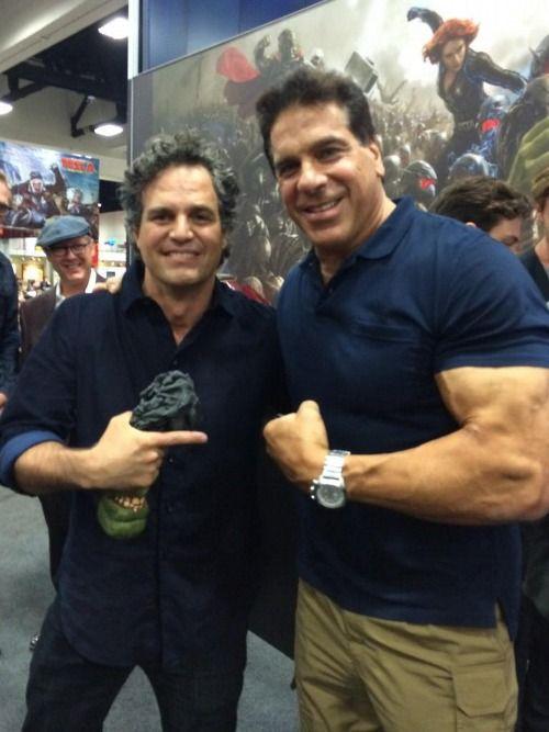 New Hulk + Old Hulk   Ruffalo must be freaking out.