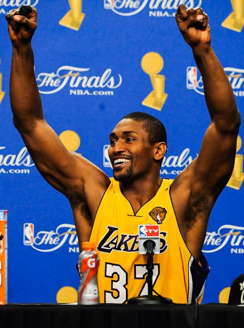 """2010 NBA Finals"""" """" Seven years ago today. RON ARTEST """""""