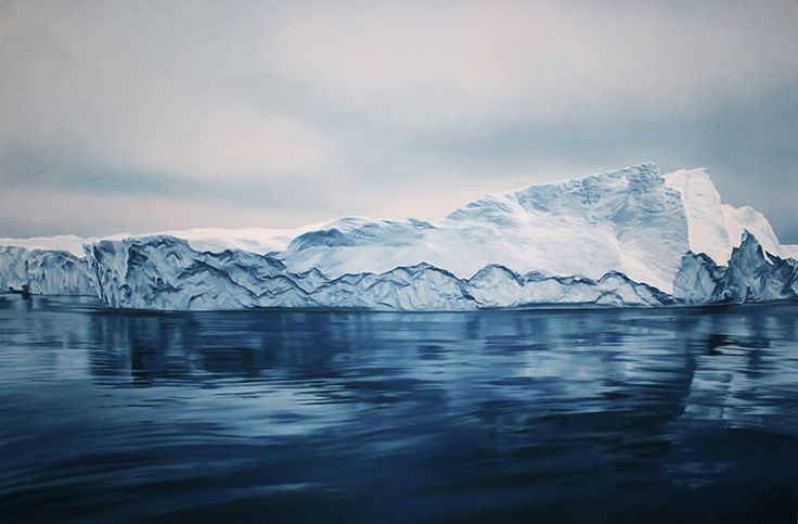 Exploring Climate Change through Art: Giant Pastel Oceanscapes and Icebergs Drawn by Zaria Forman pastel landscapes icebergs Greenland