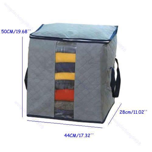 Складные Bamboo Уголь Одежда Свитер Одеяло Шкаф Организатор Сумка Для Хранения Box Серый оптовая/розничная торговля