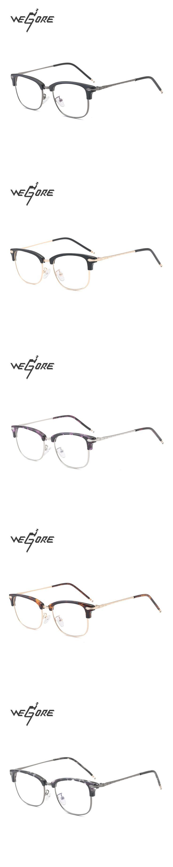WEGORE TR90 Men Glasses Frame Vintage Optical Brand Myopia Designer Clear Eyeglasses Frame WG2060