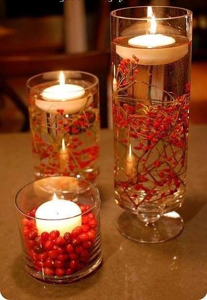 candele di natale.......nell'acqua